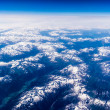 Landscape of Mountain. view from the airplane window . height of — Stock Photo #47815067
