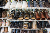 Variety  Shoes in the Shop. — Stock Photo