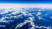 Landscape of Mountain. view from the airplane window . height of — Stock Photo