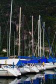 Yacht marina in Riva del Garda in Italy.  Lago di Garda, largest — Stock Photo