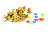 Marihuana, drugs, pills, narcotic — Stock Photo