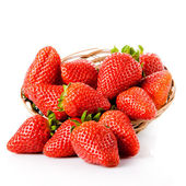 Strawberries  on a white background.  — Foto Stock