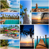 Summer beach images.  nature and travel background (my photos)  — Stock Photo