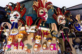 Various venetian masks on sale. — Stock Photo