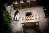 Balcony of Romeo and Juliet in Verona, Italy. — Zdjęcie stockowe