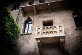 Balkon, romeo ve juliet, verona, i̇talya. — Stok fotoğraf