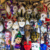 Various Venetian masks on sale — Stock Photo