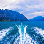 Wave of power boat — Foto Stock
