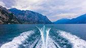 Motor Boat Trail — Foto Stock