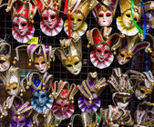 Venetian masks in store display — Stock Photo