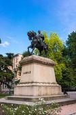 Statue of Garibaldi in Verona — Stock Photo