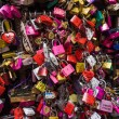 Many colored locks of love in the gate of the House of Romeo and — Stock Photo #49453651