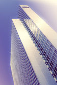 Office buildings. modern glass silhouettes of skyscrapers  with  — Stock Photo