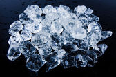 Beautiful Ice cubes. White crystals — Stock Photo