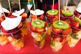 Fresh fruit salad on a market.  Fruit Cocktail — Stock Photo