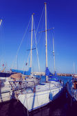 Sea bay with yachts — Stock Photo
