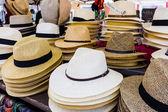Handmade Panama Hats for sale — Stockfoto