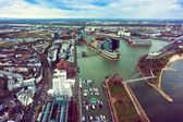 Aerial view of  Dusseldorf — Stock Photo