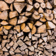 Closeup of chopped fire wood stack — Stock Photo #50676595