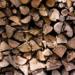 Closeup of chopped fire wood stack — Stock Photo #50939797