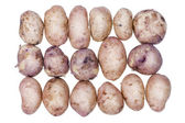 Potatoes with skins on the conveyor — Foto de Stock