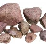 Red street stones — Stock Photo
