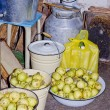 Still life with yellow rotten apples — ストック写真