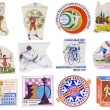 Soviet Union sport banners set - Stockfoto