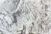 Curled crumpled page — Stock Photo