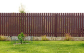 Isolated rural wooden fence — Stock Photo