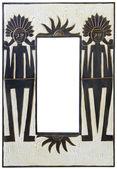 Miroir en bois style africain — Photo