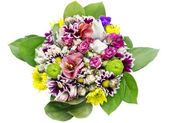 Flowers bouquet for girl birthday — Stock Photo