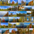 Russian autumn time collage — Stock Photo