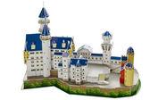 Toy cardboard castle — Stock Photo