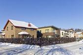 现代欧洲冬季村 — 图库照片