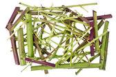 Sharp green chaos concept — Stock Photo