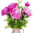 Minimalistic pink mourning bouquet — Stock Photo