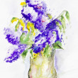 Impression  spring lilac — Stock Photo