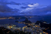 Night Rio landscape — Stock Photo