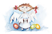 Easter angel — Stock Photo