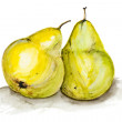 Yellow  big pears  — Stock Photo