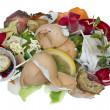 Food waste isolated concept — Stock Photo