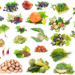 Stock Photo: Fruits and vegetables set
