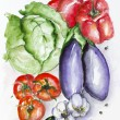Watercolor vegetables set — Stock Photo #32953083