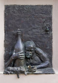 Drunkard and a cat — Stok fotoğraf