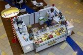 Valentino ice cream store top view — Stock Photo