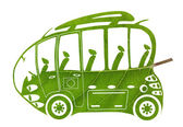 Green Euro bus — Stockfoto