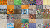 Mosaic from natural and handmade  textures — Stock Photo