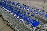 Empty shopping carts — Stock Photo