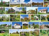 European villages fragments — Stock Photo